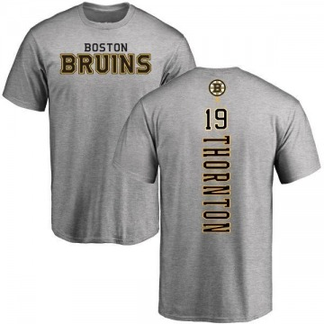 Men's Joe Thornton Boston Bruins Backer T-Shirt - Ash